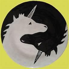 Malvorlagen Yin Yang Unicorn Glazed Ceramic Quot Yin Yang Unicorn Quot Plate Unicorn Tattoos
