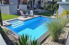 selbstbau pool mit griechischer treppe an der l 228 ngsseite