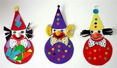 basteln zum fasching bastelsachen3 clowns aus bierdeckel karneval fasching