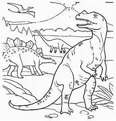 Dino Malvorlagen Indonesia Kleurplaat Dino Dino Kleurplaten