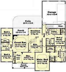 2400 square foot house plans european style house plan 4 beds 3 00 baths 2400 sq ft