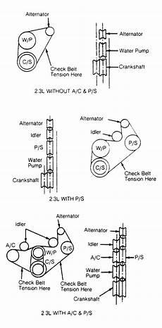 91 ranger engine diagram 1991 ford ranger serpentine belt routing and timing belt diagrams