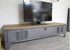 un meuble tv style industriel en bois et metal brico