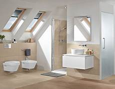 badezimmer t wand bath a sloping roof clever use of space villeroy