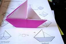 schiffchen falten anleitung origami sail boat 171 embroidery origami