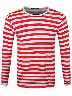 new striped and white sleeved t shirt ebay