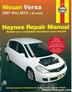 old cars and repair manuals free 2007 nissan 350z electronic valve timing 2007 2014 nissan versa haynes auto repair manual