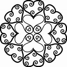 Malvorlagen Bilder Mandala Muttertag Mandala Herz Ornament Ausmalen Ausmalen