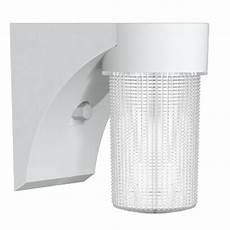 commercial electric 17 watt white outdoor integrated led jelly jar wall light with dusk to