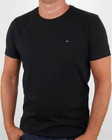 hilfiger cotton crew neck t shirt black s