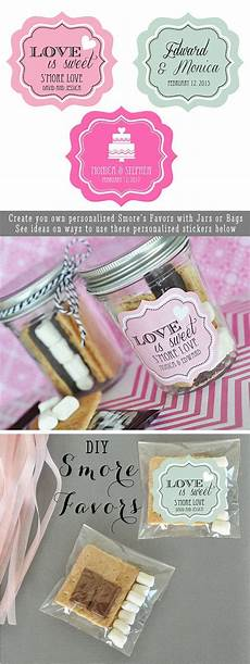 wedding favors are easy to diy with these personalized