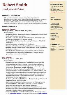 java architect resume sles qwikresume