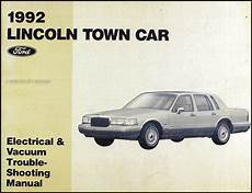 electric and cars manual 1993 lincoln town car user handbook 1992 lincoln town car electrical and vacuum troubleshooting manual