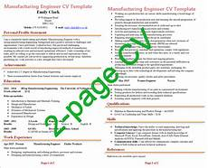 2 page cv length exle