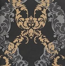 barock tapete schwarz ornamentals barock tapete ornamente 48665 schwarz gold