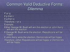 ppt common valid deductive forms dilemma powerpoint presentation free download id 6225911