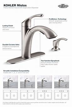 install kohler kitchen faucet kohler mistos single handle pull out sprayer kitchen faucet in stainless steel k r72510 sd vs