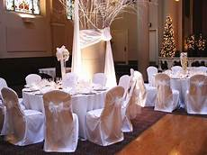 simple winter theme morgys wedding in 2019 wedding chairs white chair covers wedding table