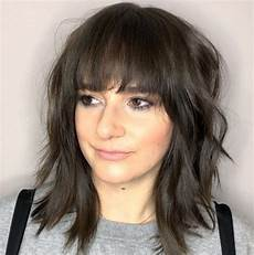 53 popular medium length hairstyles with bangs in 2019