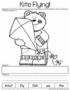 sentence building worksheets cut and paste 21045 129 best images about sentence building on pocket charts sentence for and simple