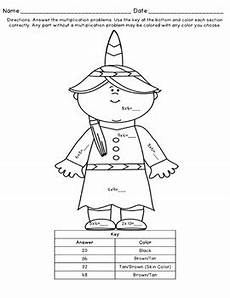 thanksgiving multiplication coloring worksheets grade 3 4760 multiplication coloring pages thanksgiving tpt