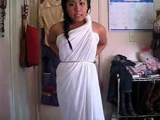 2 minutes greek goddess costume no sewing youtube