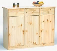 massivholz highboard sideboard kommode anrichte kiefer