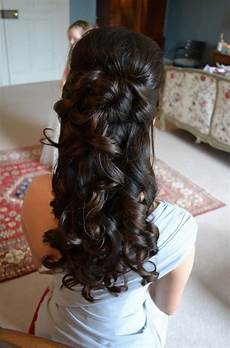 Half Up Half Hair Style Front View For Wedding