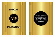vip name card template golden vip invitation template vector vector card free