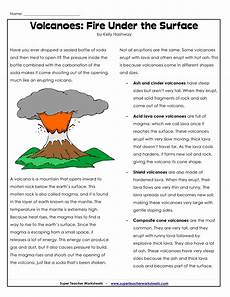 parts of a volcano printable volcano worksheets geography history lessons pinterest