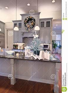 Kitchen Counter Gifts by Gift Wrapping In Kitchen For Royalty Free Stock