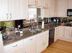 glass mirror backsplash kitchen ideas