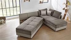 sofa wohnlandschaft wohnlandschaft l modena sofa dauerschl 228 fer greige mit 7