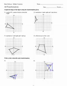 geometry transformations practice 9th 12th grade worksheet lesson planet