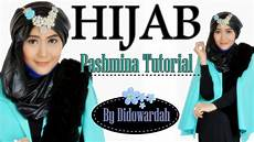 Tutorial Modern Pashmina Tutorial Pesta By