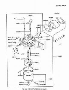 Kawasaki Fg300d As16 4 Stroke Engine Fg300d Parts Diagram