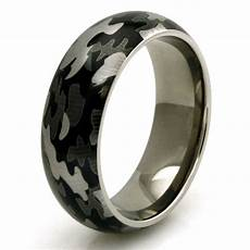 men s titanium snow camouflage camo design engravable