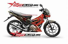 Stiker Motor Satria Fu by Modif Striping Suzuki Satria Fu 150 Ala