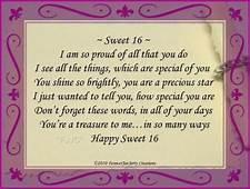 Happy Sweet Sixteen Birthday Poem  Quotes For