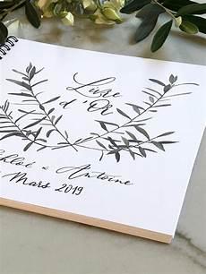 Livre D Or Blanc Aquarelle Branches D Olivier