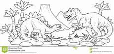Malvorlagen Dino Xl Strid Av Tv 229 Enorma Dinosaurier Vektor Illustrationer
