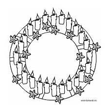 ausmalbilder adventskranz weihnachten in europa