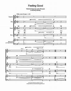 feeling good choral satb sheet music by by satb 108686