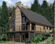 a frame house plans with walkout basement plan 67711mg a frame house plan with a wraparound sundeck