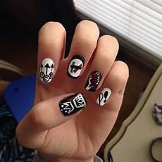 pintrest livingcolor03 band nails emo nail art