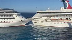 two carnival cruise ships just collided in cozumel mexico