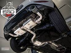golf 7 gti abgasanlage hg motorsport onlineshop ego x catback exhaust incl pre