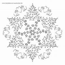 Malvorlagen Weihnachten Mandala Gratis Mandala Weihnacht Tanne Ausmalen