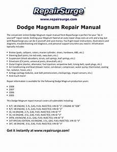 service manuals schematics 2008 dodge magnum user handbook dodge magnum repair manual 2005 2008