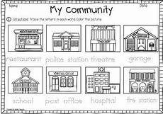 places in my community worksheets 15963 places in town vocabulary pack community helpers worksheets
